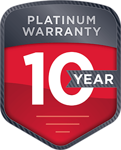 Gardner Denver Platinum Warranty badge